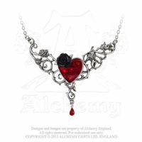 P721 The Blood Rose Heart Necklace